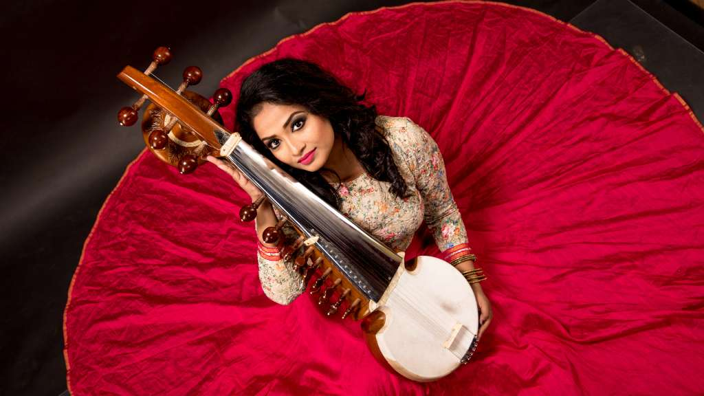Introducing Debasmita Bhattacharya image with sarod