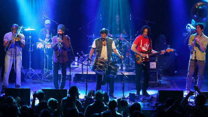 Red Baraat performing live
