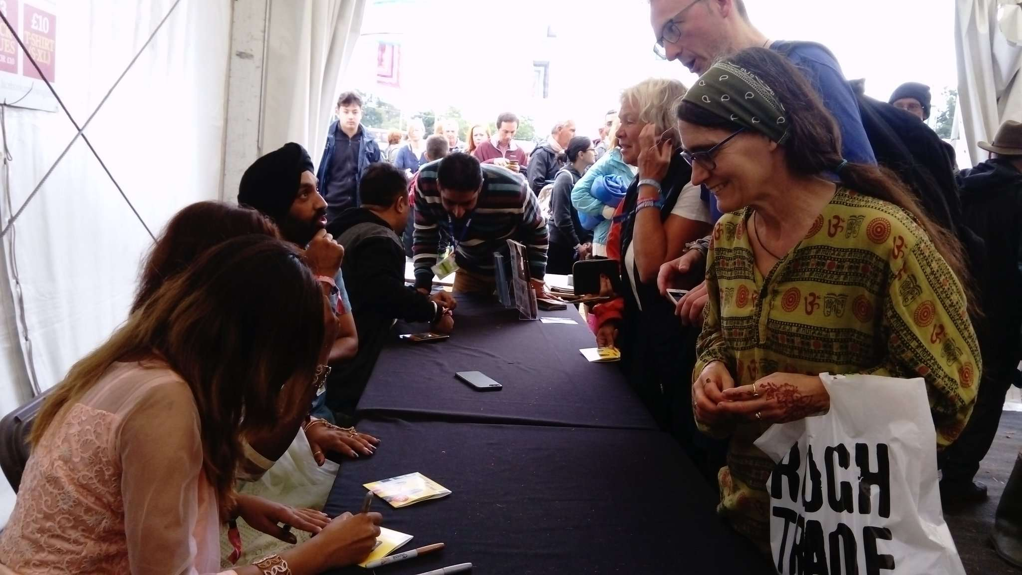 Hashmat Sultana CD Signing at WOMAD 2018